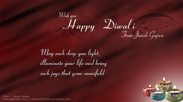 Wish you Happy Diwali from janak gajera